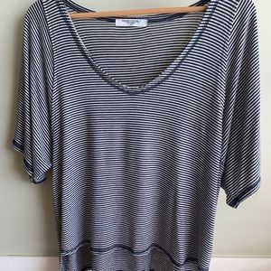 Project Social-T Navy and Tan Stripe